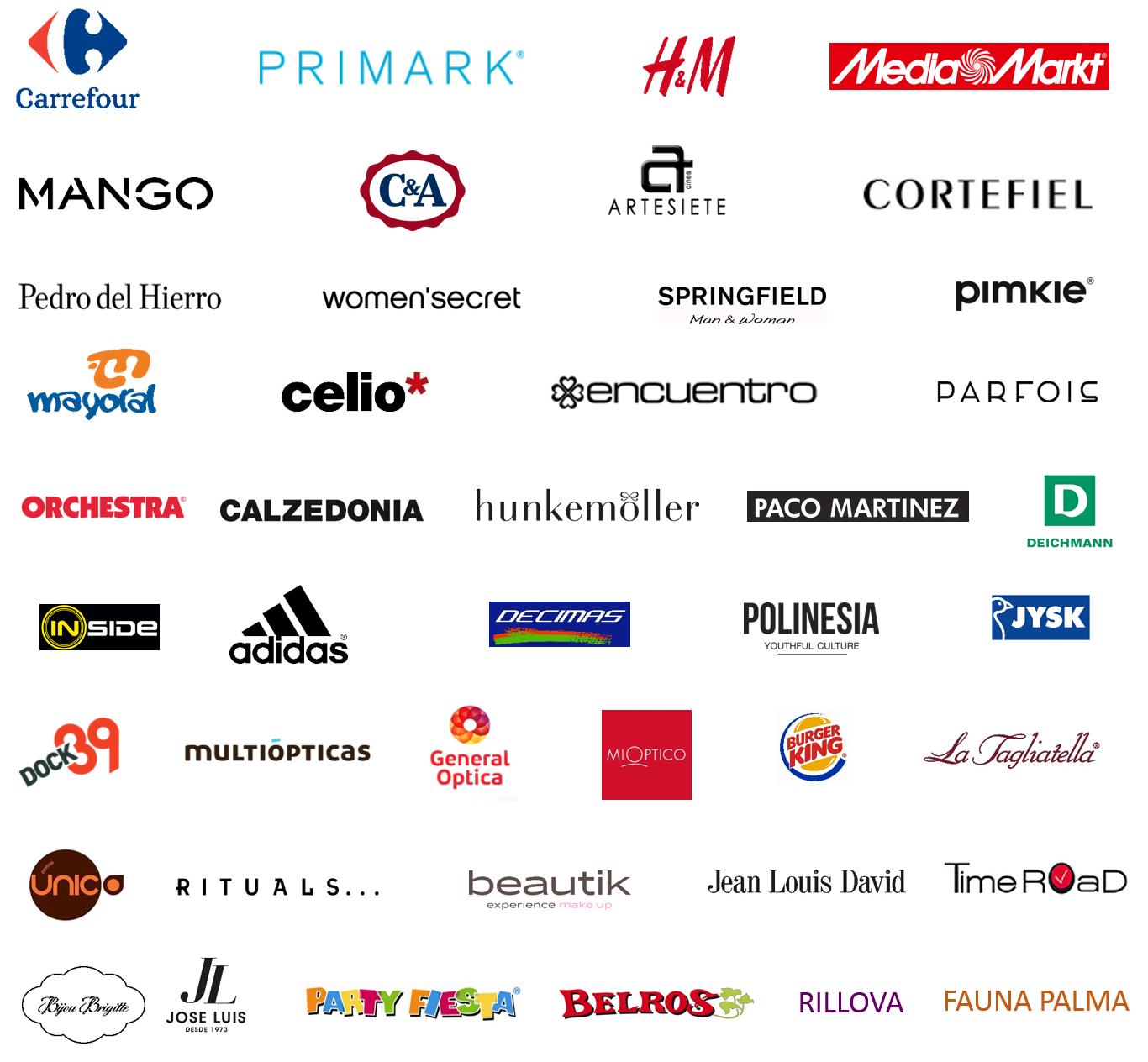 160216_Cuadro Marcas Confirmadas_FAN Mallorca Shopping